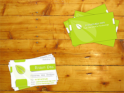 Green Creative Card PSD Template