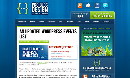Pro Blog Design - Top 10 Web Design Blogs