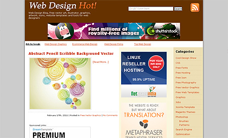 WebDesignHot - Top 10 Web Design Blogs