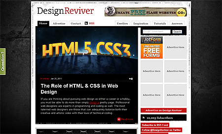 Design Reviver - Top 10 Web Design Blogs