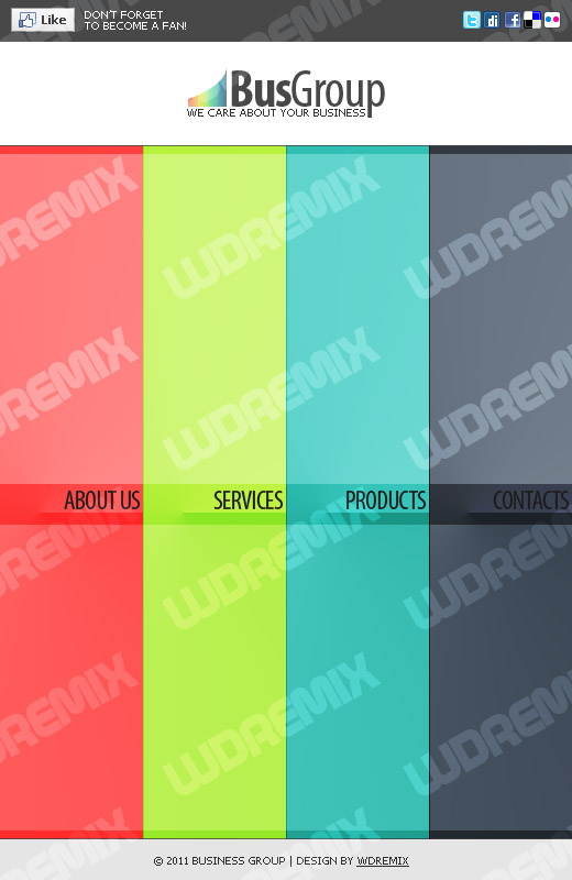 Free Facebook Template PSD for your Inspiration